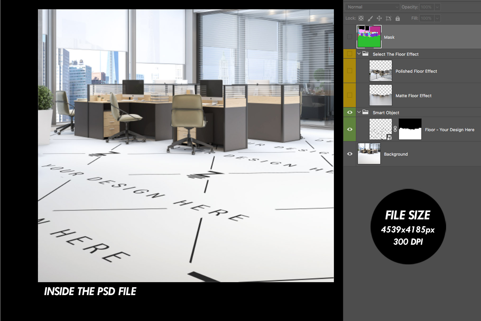 Blank Floor Commercial PSD Mockup SM79 example image 6