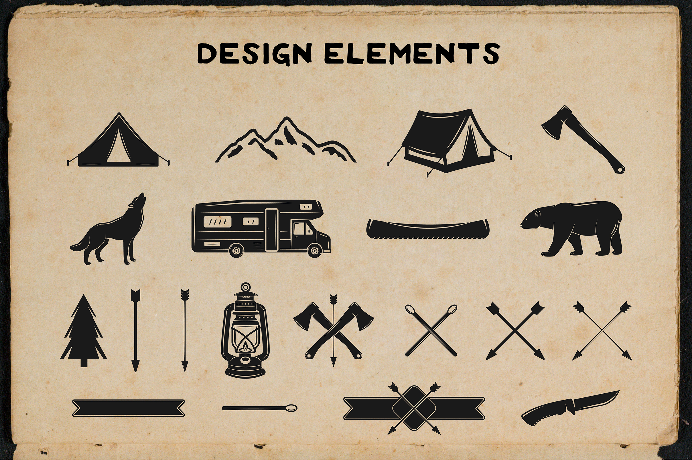 12 vintage adventure emblems example image 7