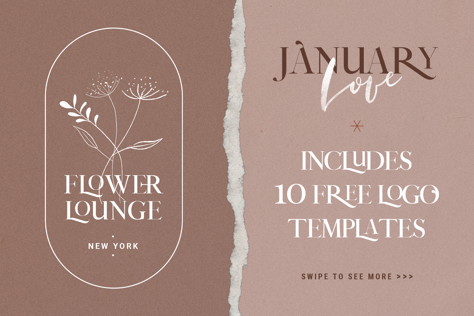 January Love Font Duo With 10 Logos & More Extras example image 6