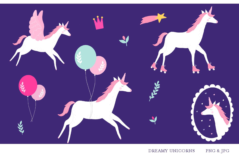 Birthday Unicorns- jpg, png, high quality detail, 300 dpi example image 1