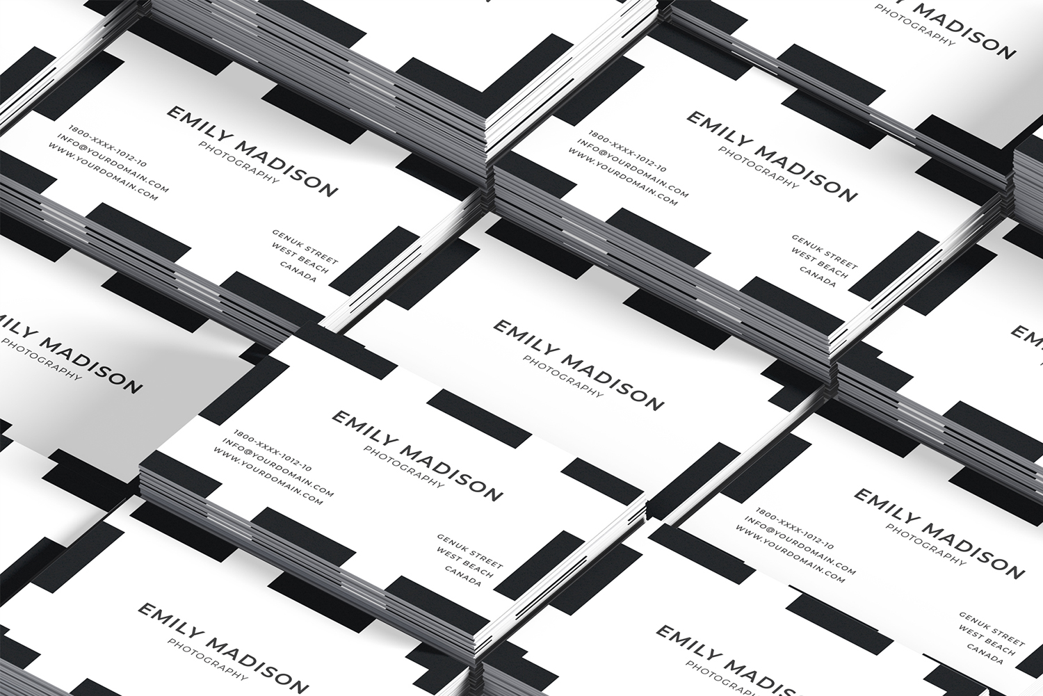 Clean Minimal Business Card Template example image 10