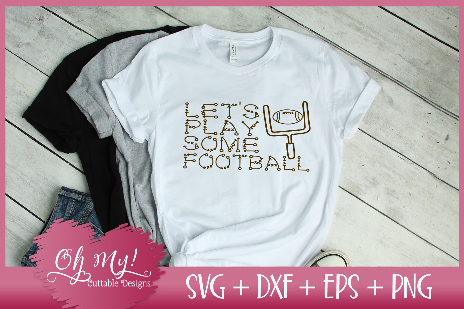 Play Football - SVG DXF EPS PNG Cutting File example image 2