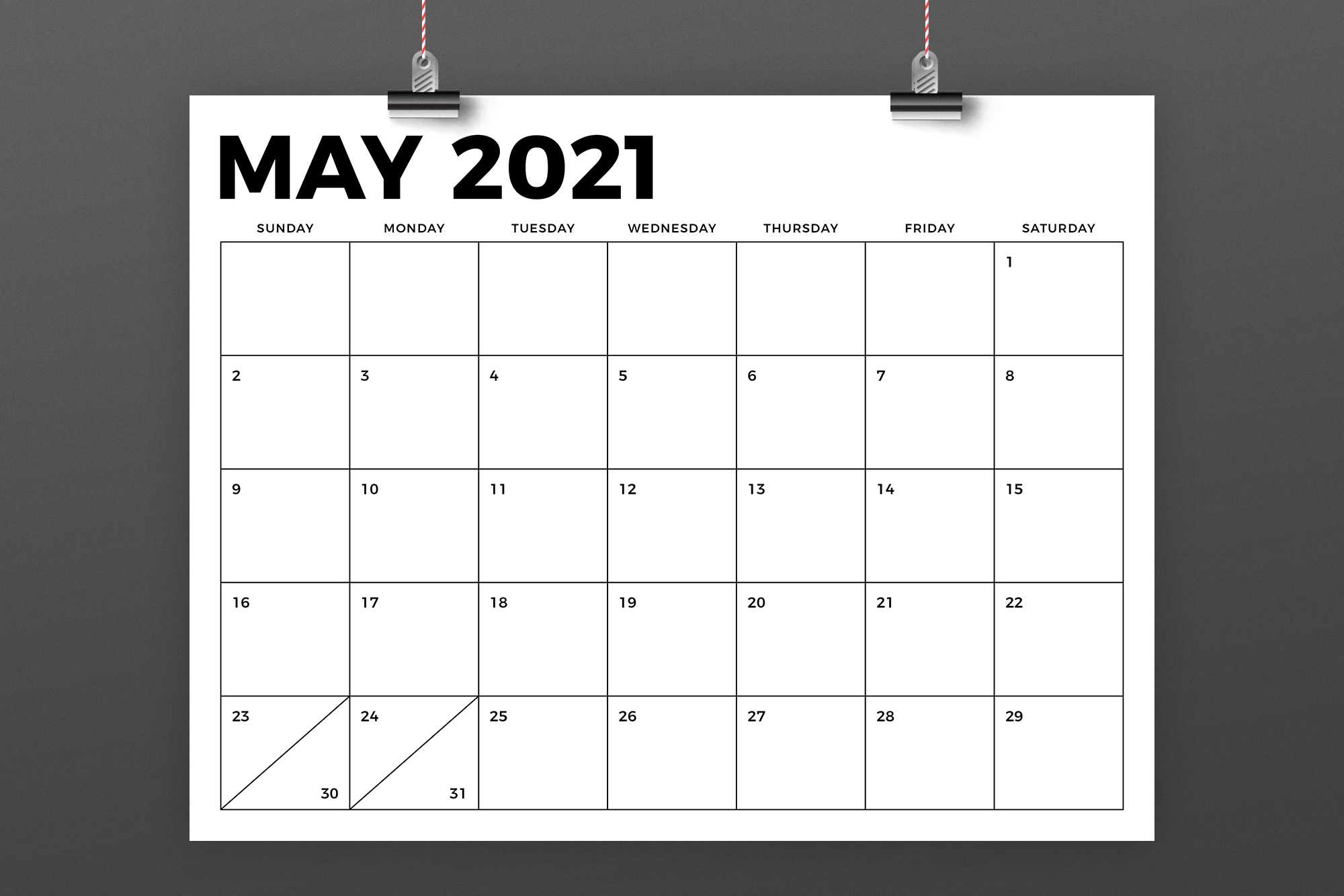 8.5 x 11 Inch Bold 2021 Calendar example image 4