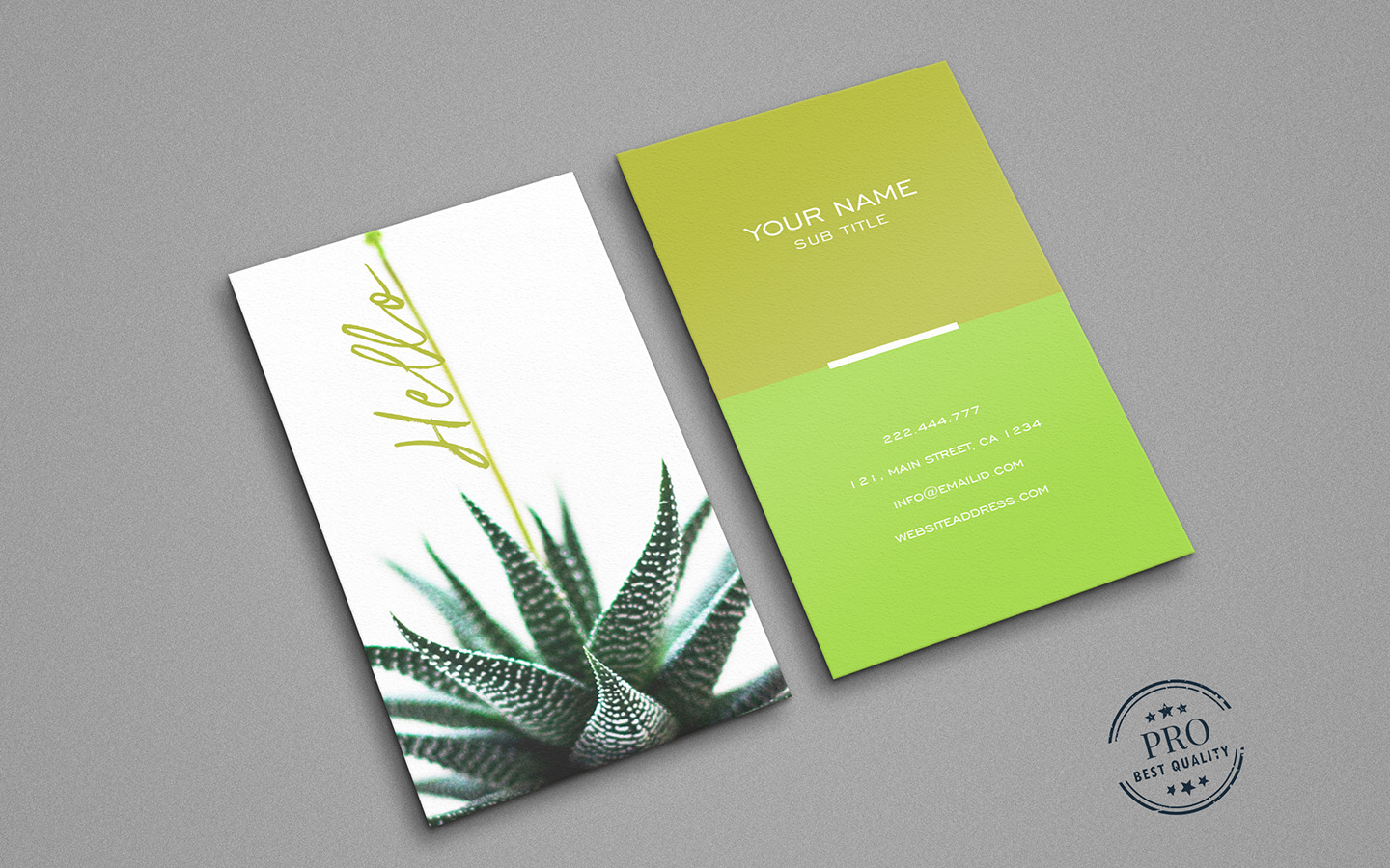Green Natural colors business card example image 2