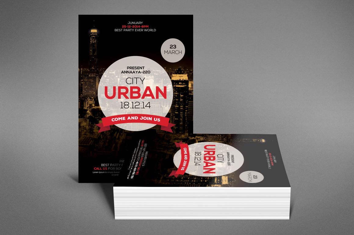 Urban City Party Flyer example image 4