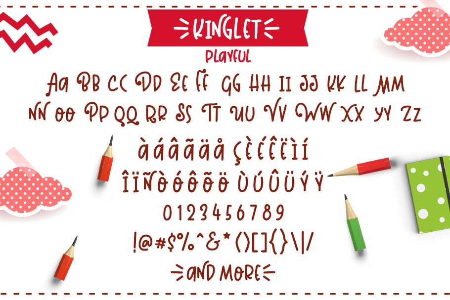 Kinglet - Cute Font Duo With Extras  example image 9