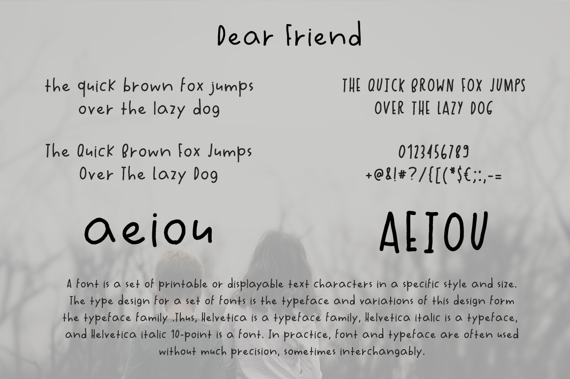 Dear Friend Hand Drawn Font example image 2