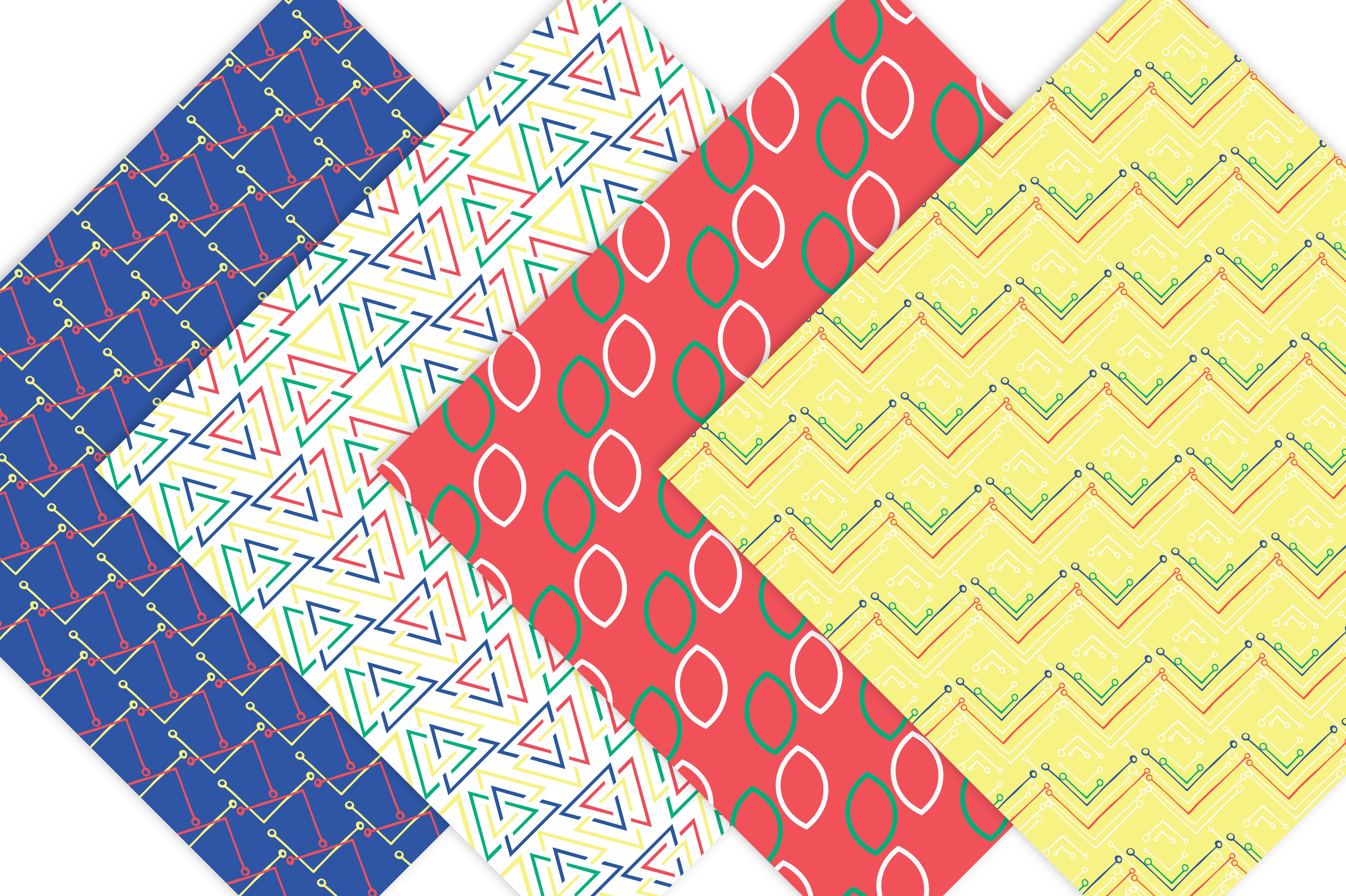 Primary Colors Geometric Patterns example image 3