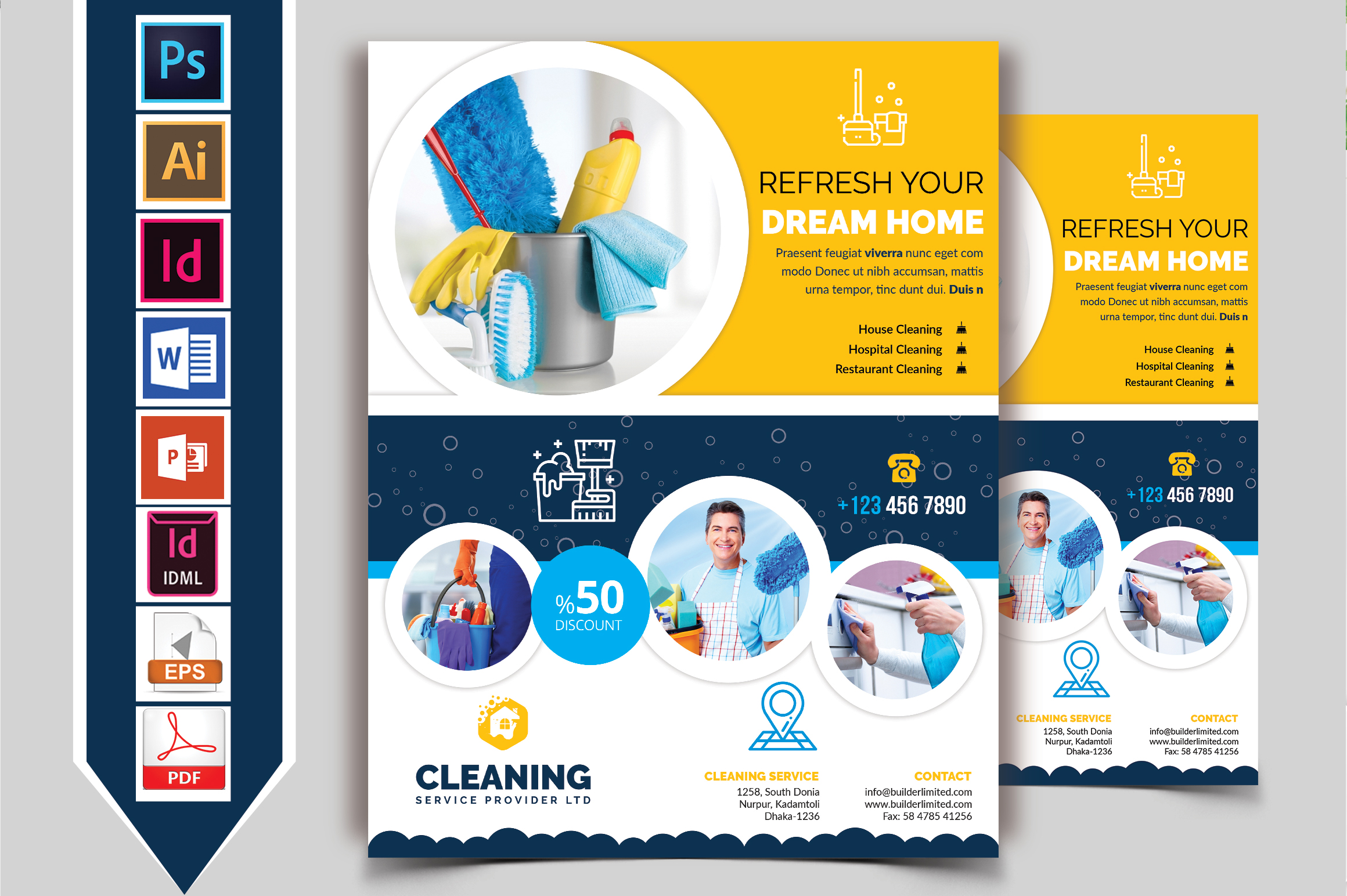 Cleaning Service Flyer Vol-09 example image 1
