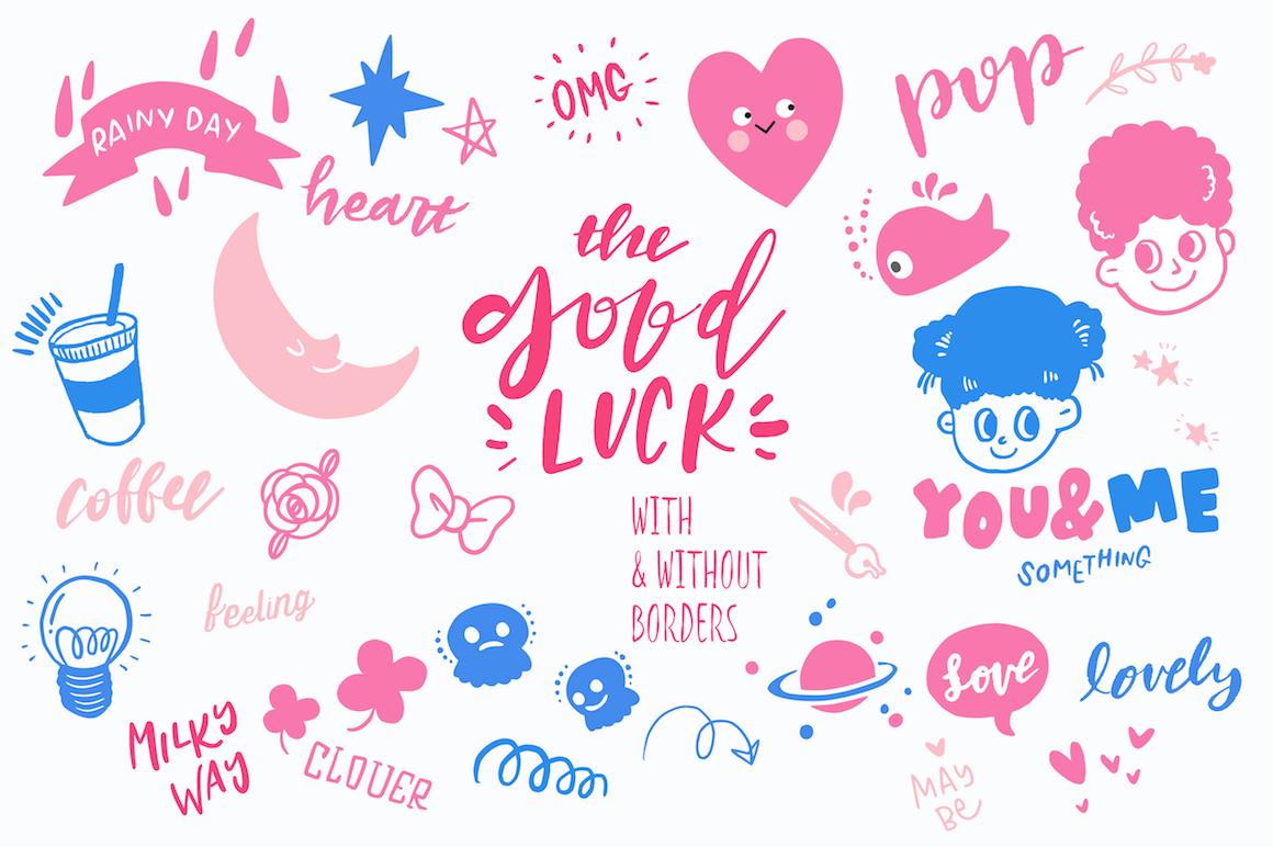 Good Luck - Retro Pop Stickers example image 3