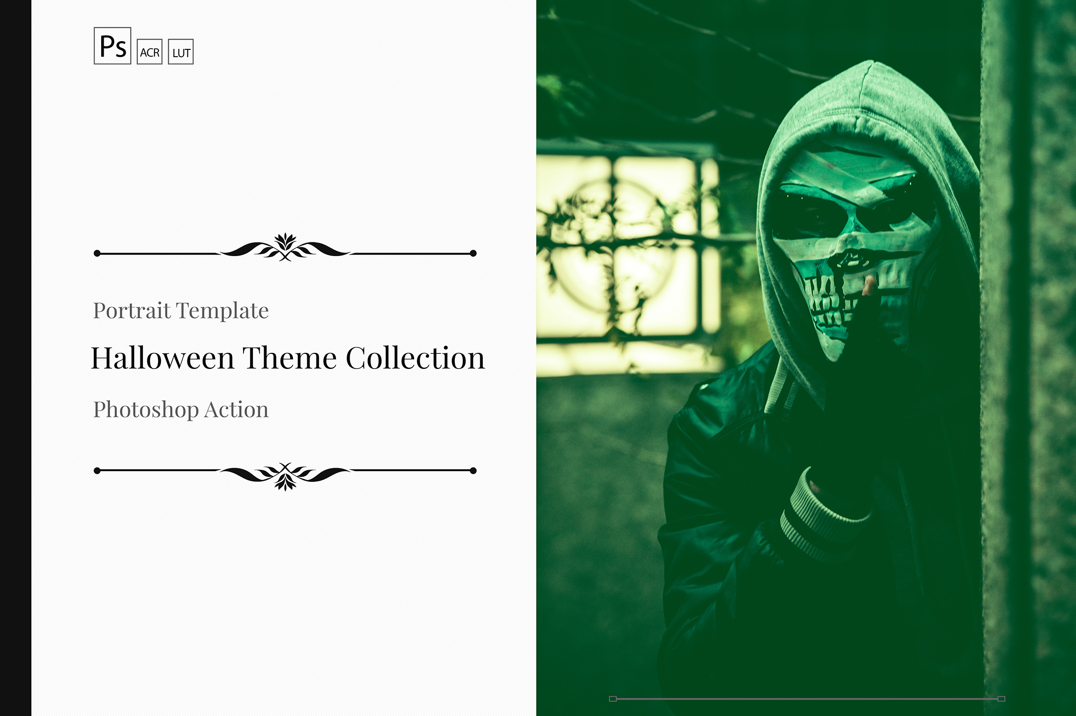 Halloween Theme color grading Photoshop Actions example image 1