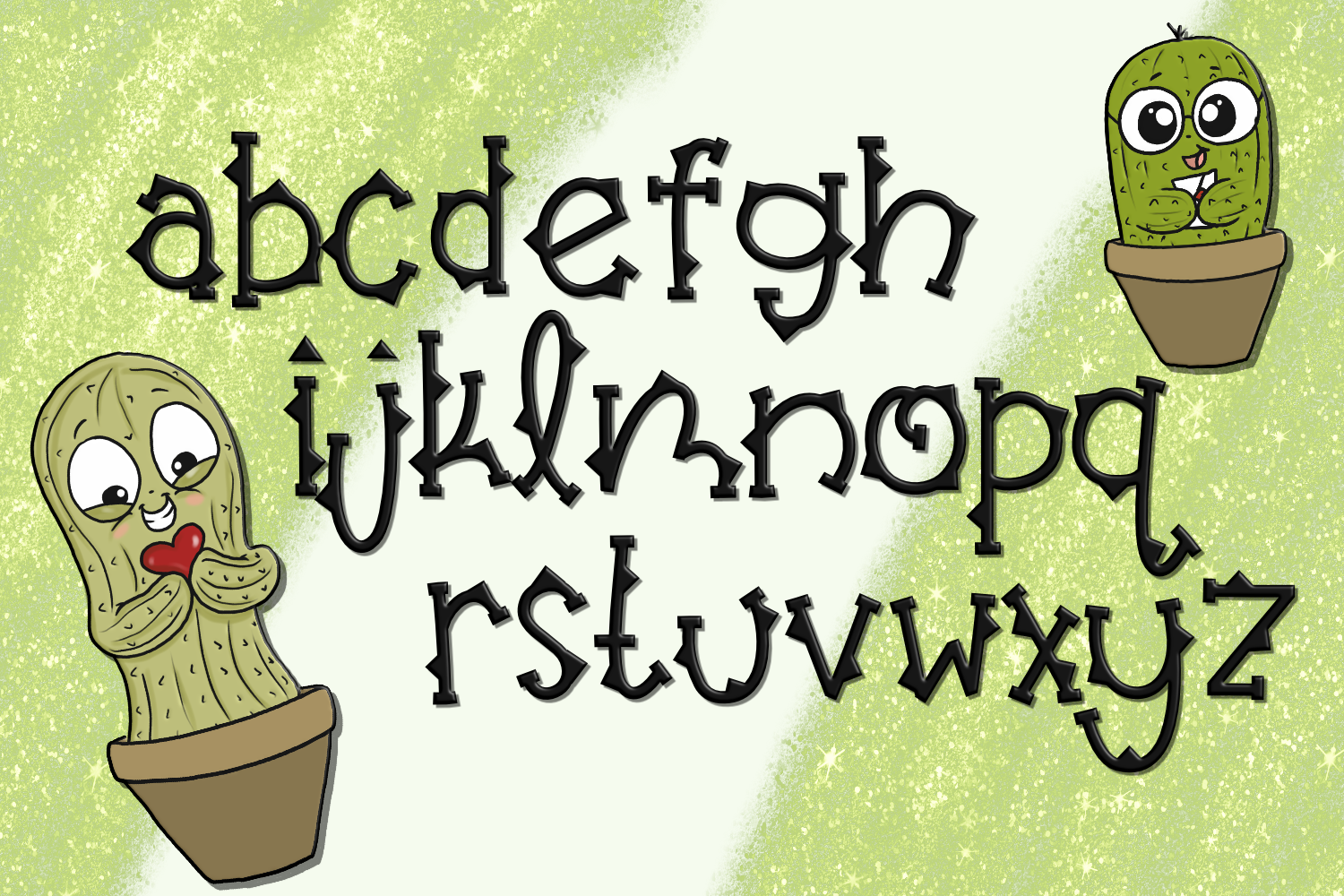 Not So Cuddly Cactus Font example image 2
