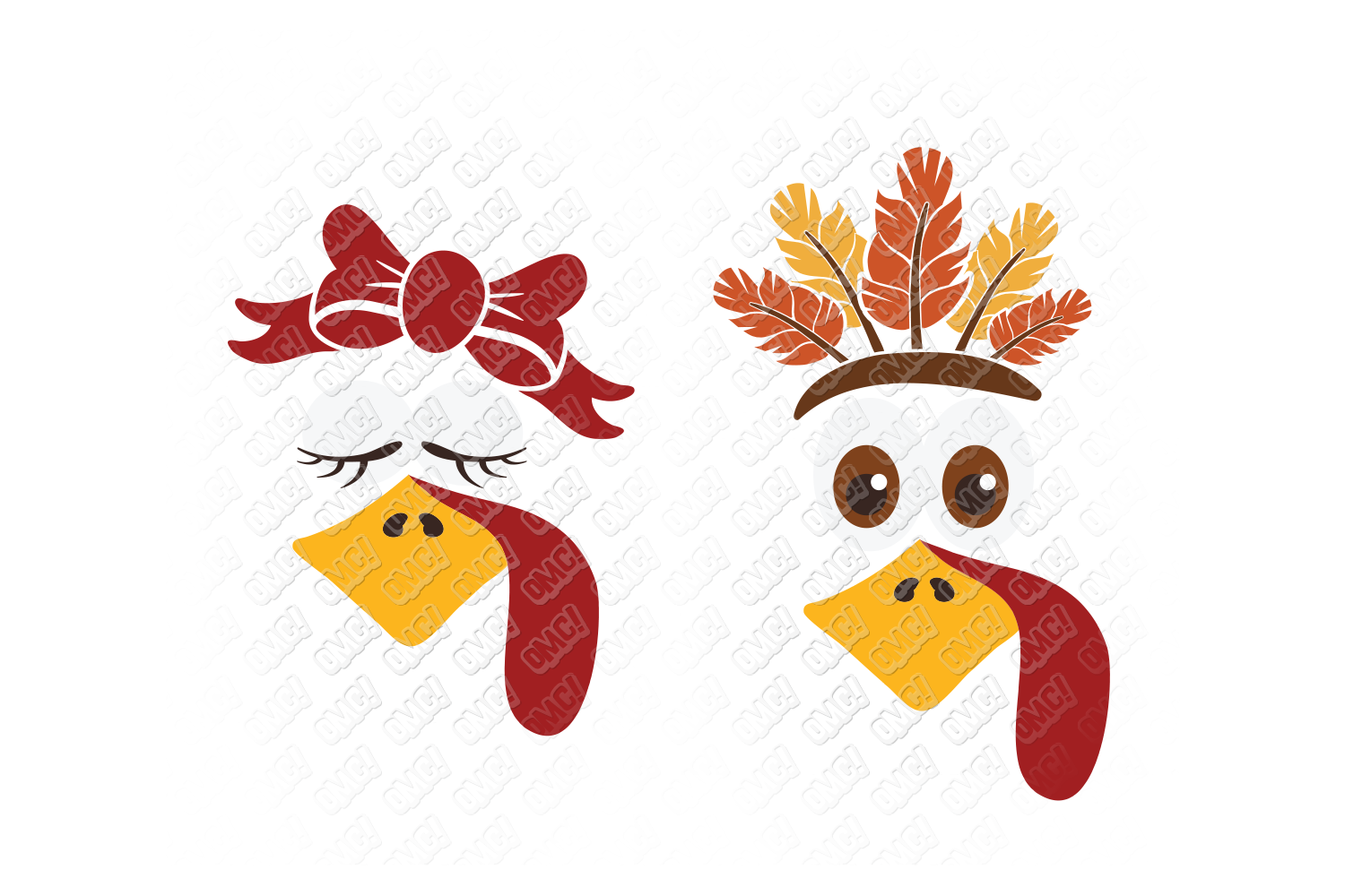 Turkey Face SVG in SVG, DXF, PNG, EPS, JPEG (121925) | Cut ...