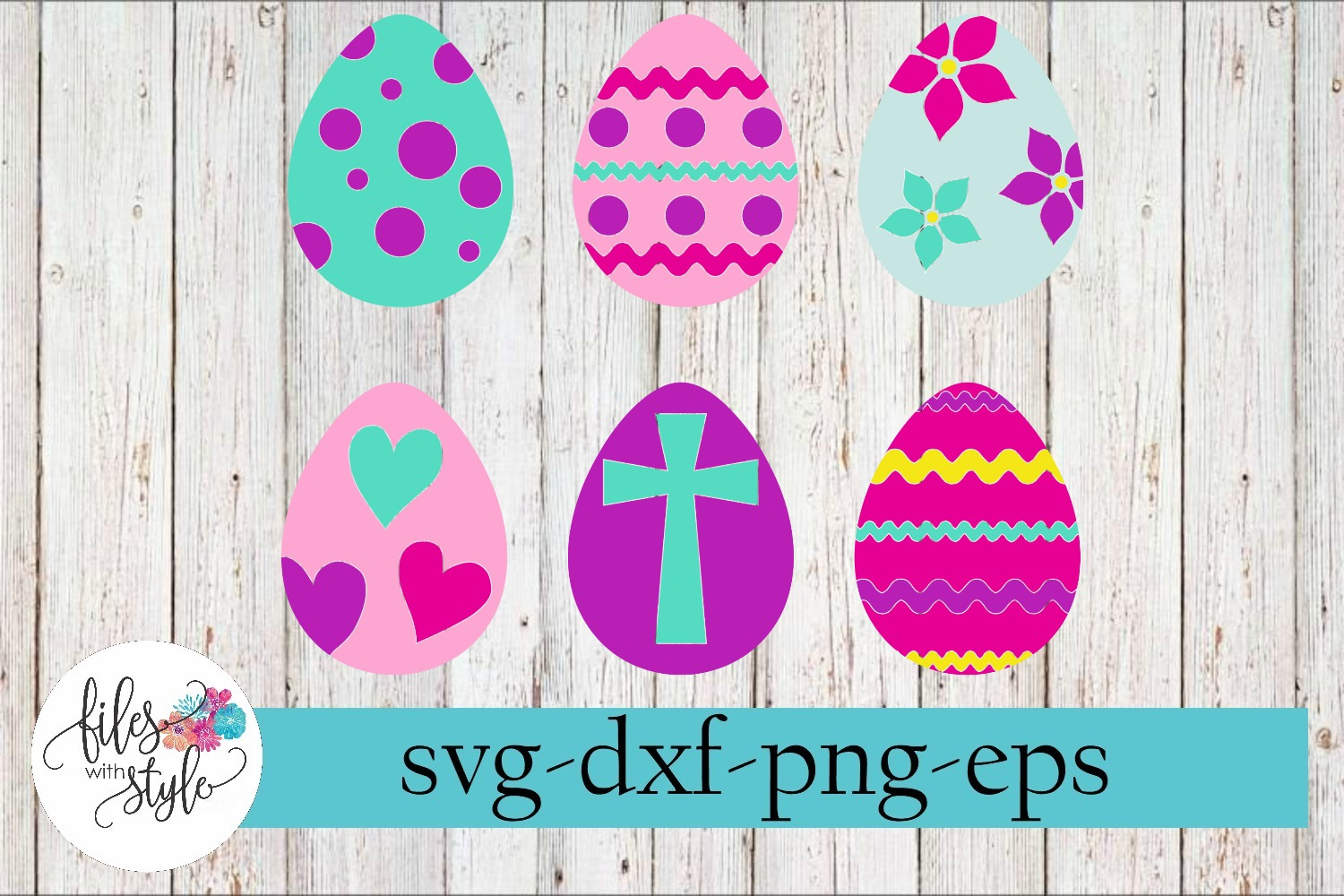 Happy Easter Egg Set SVG Cutting Files example image 1