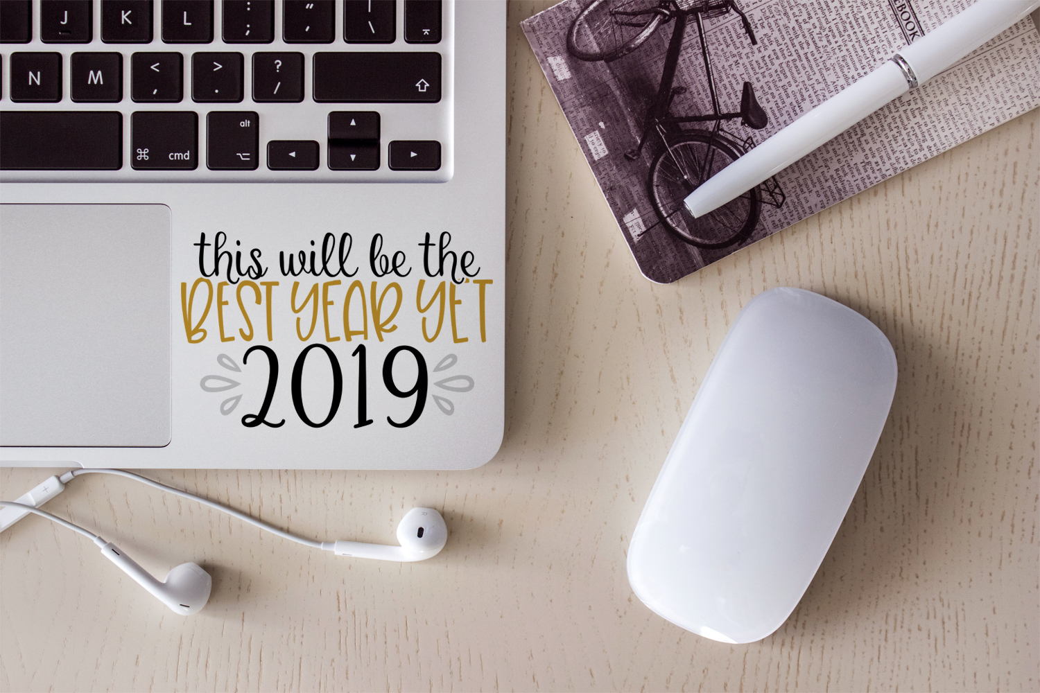 2019 New Year Bundle- 10 Unique New Year Designs example image 5