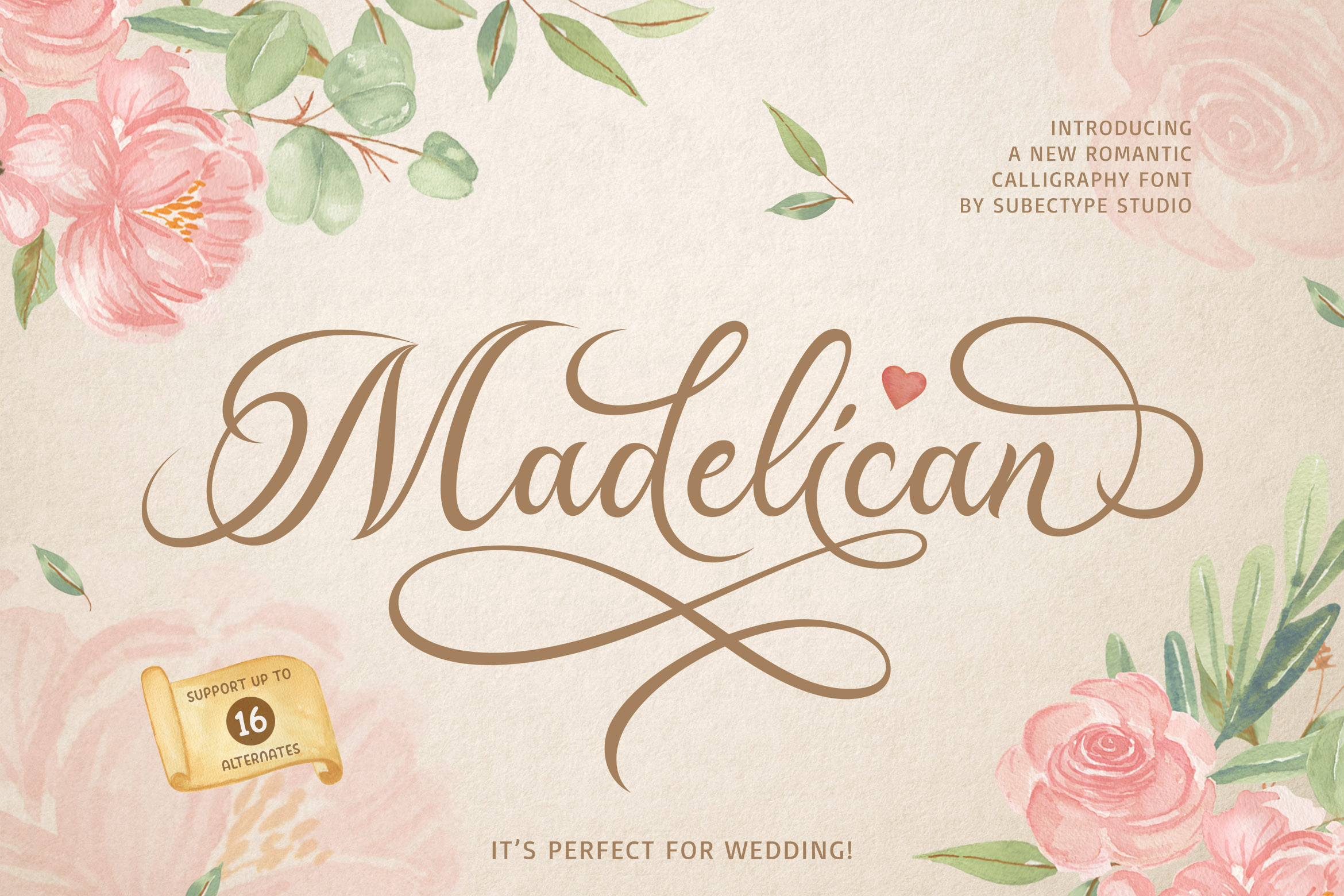 Madelican Calligraphy Font example image 1