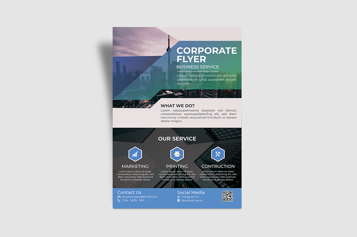 Service Corporate Flyer example image 2