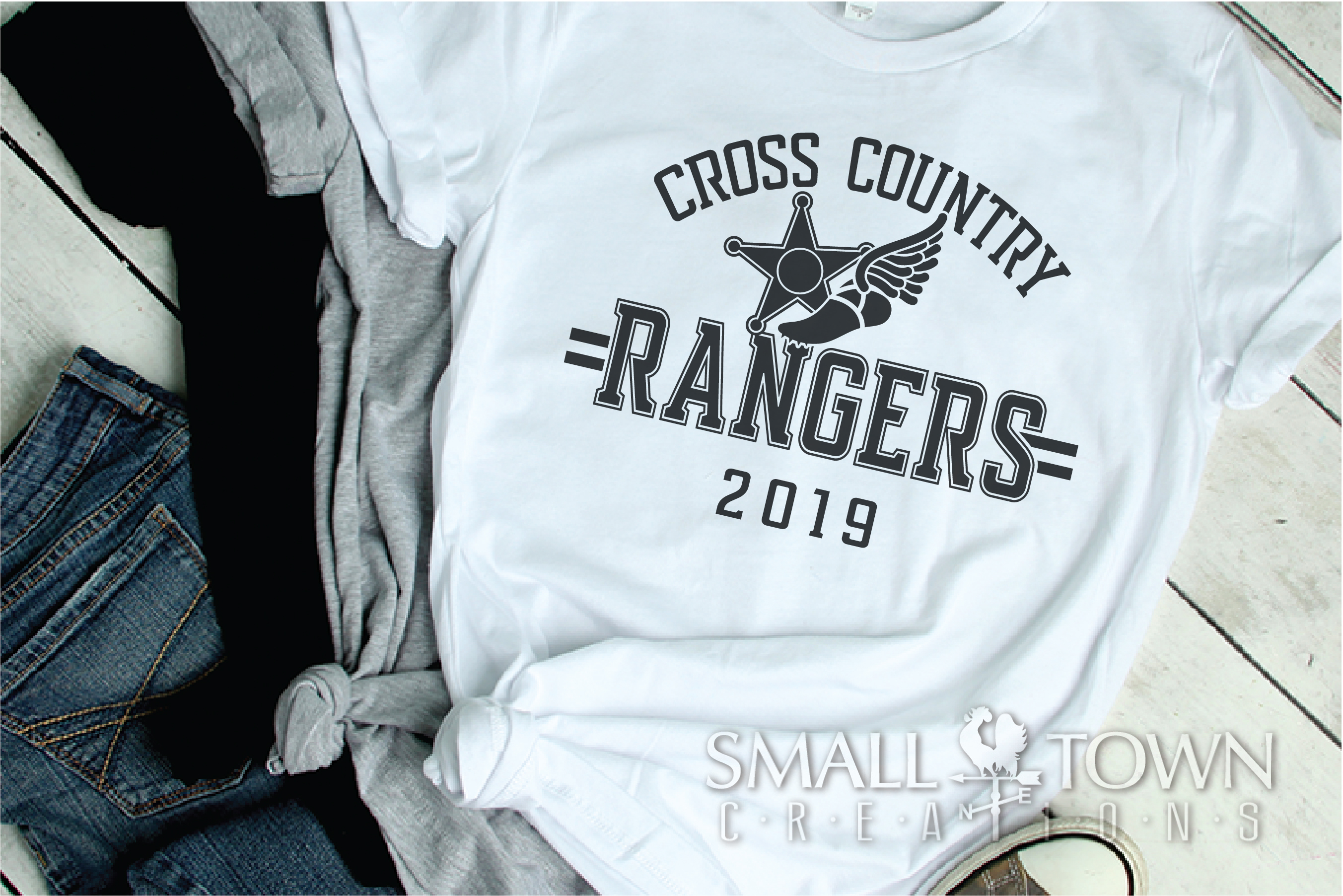 Ranger Cross Country, Sports, Logo, PRINT, CUT & DESIGN example image 2