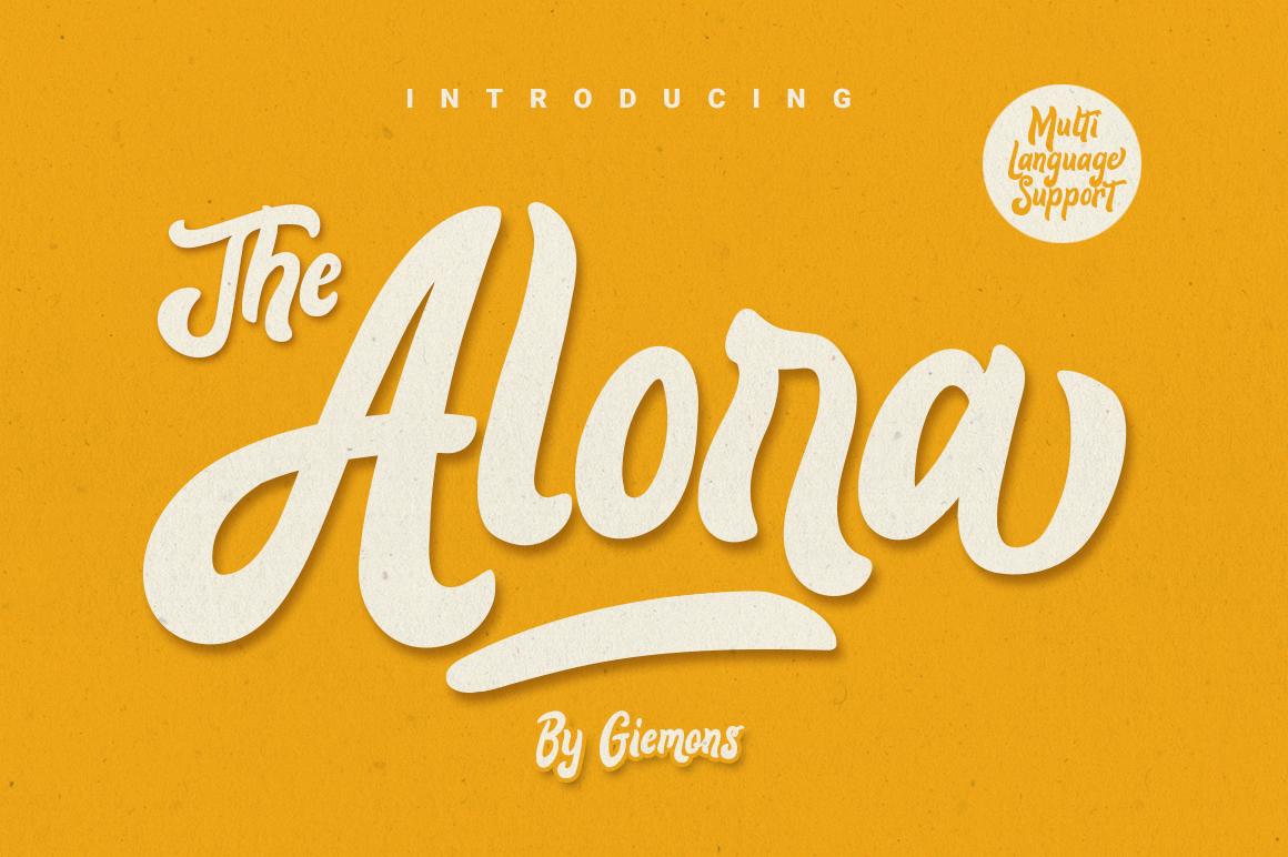 Alora Typeface example image 1