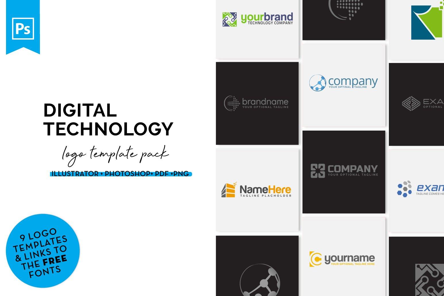 Technology Logo Design Set example image 1