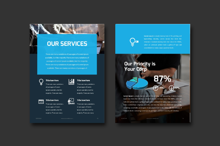 Business Report eBook Powerpoint Template example image 6