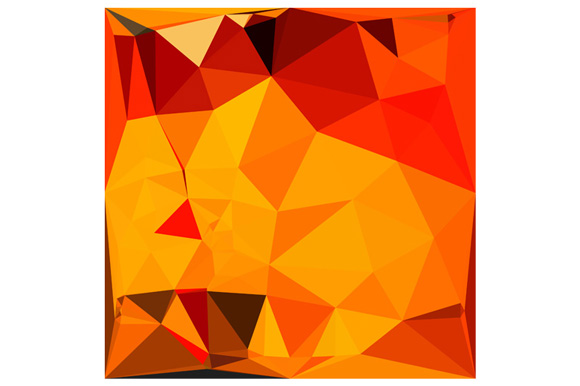 Cadmium Yellow Abstract Low Polygon Background example image 1