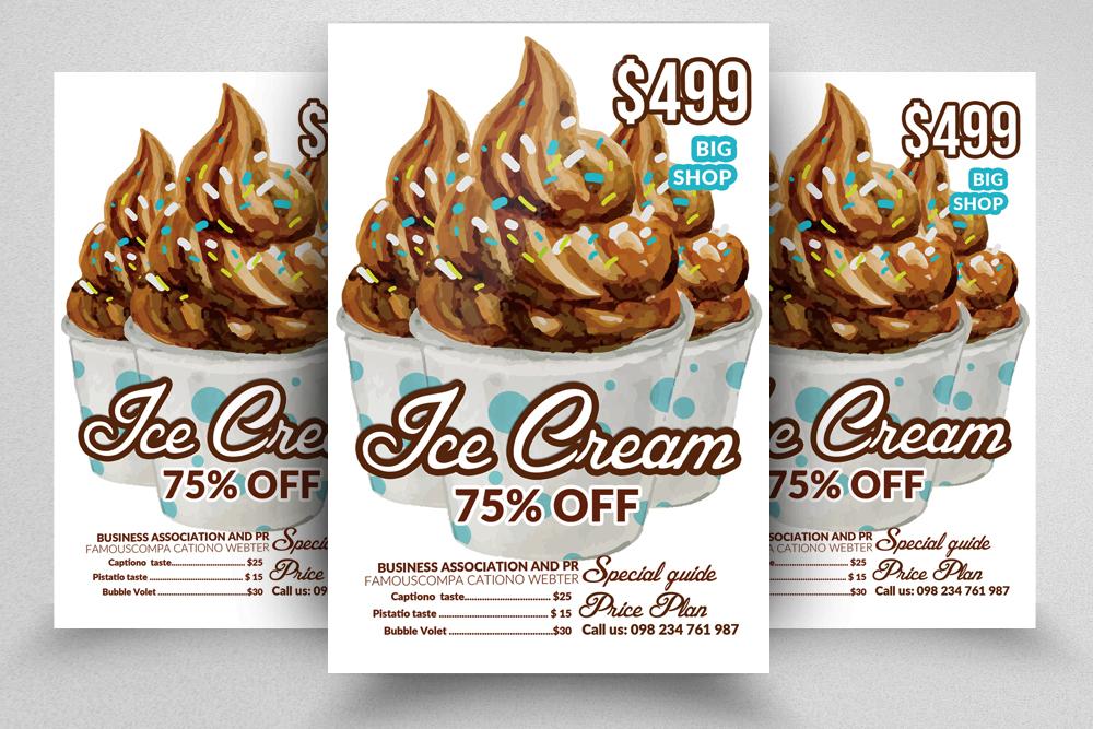 10 Ice Cream Discount Flyer Template Bundle example image 6
