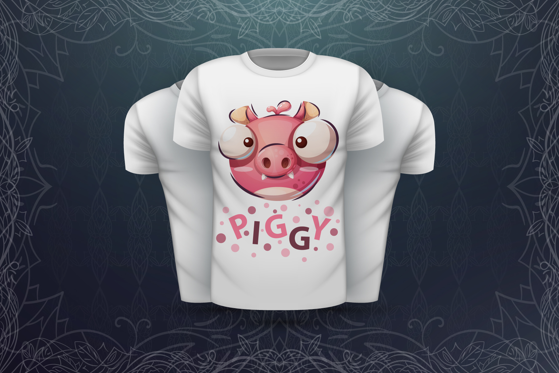 Set cute animal - for print t-shirt example image 7