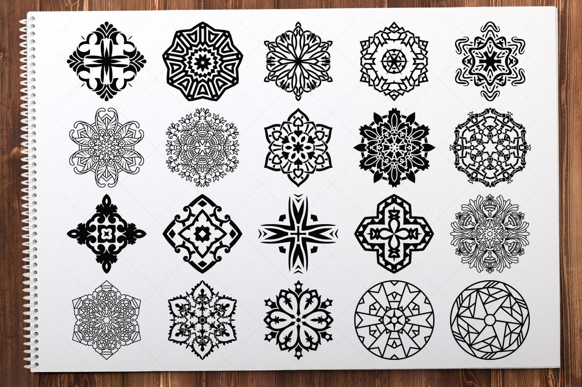 500 Vector Mandala Ornaments example image 10