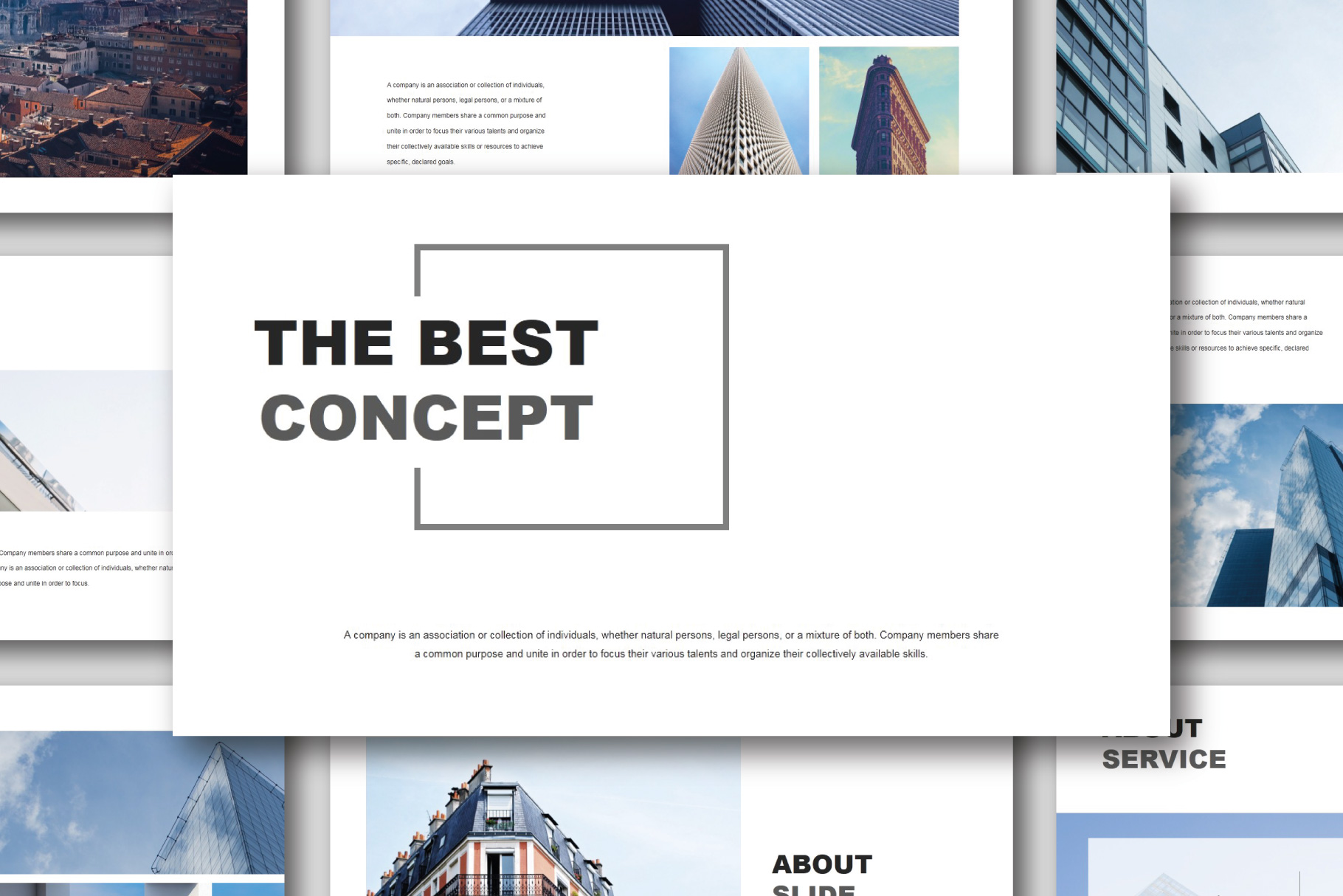 The Best Concept Business PowerPoint example image 1