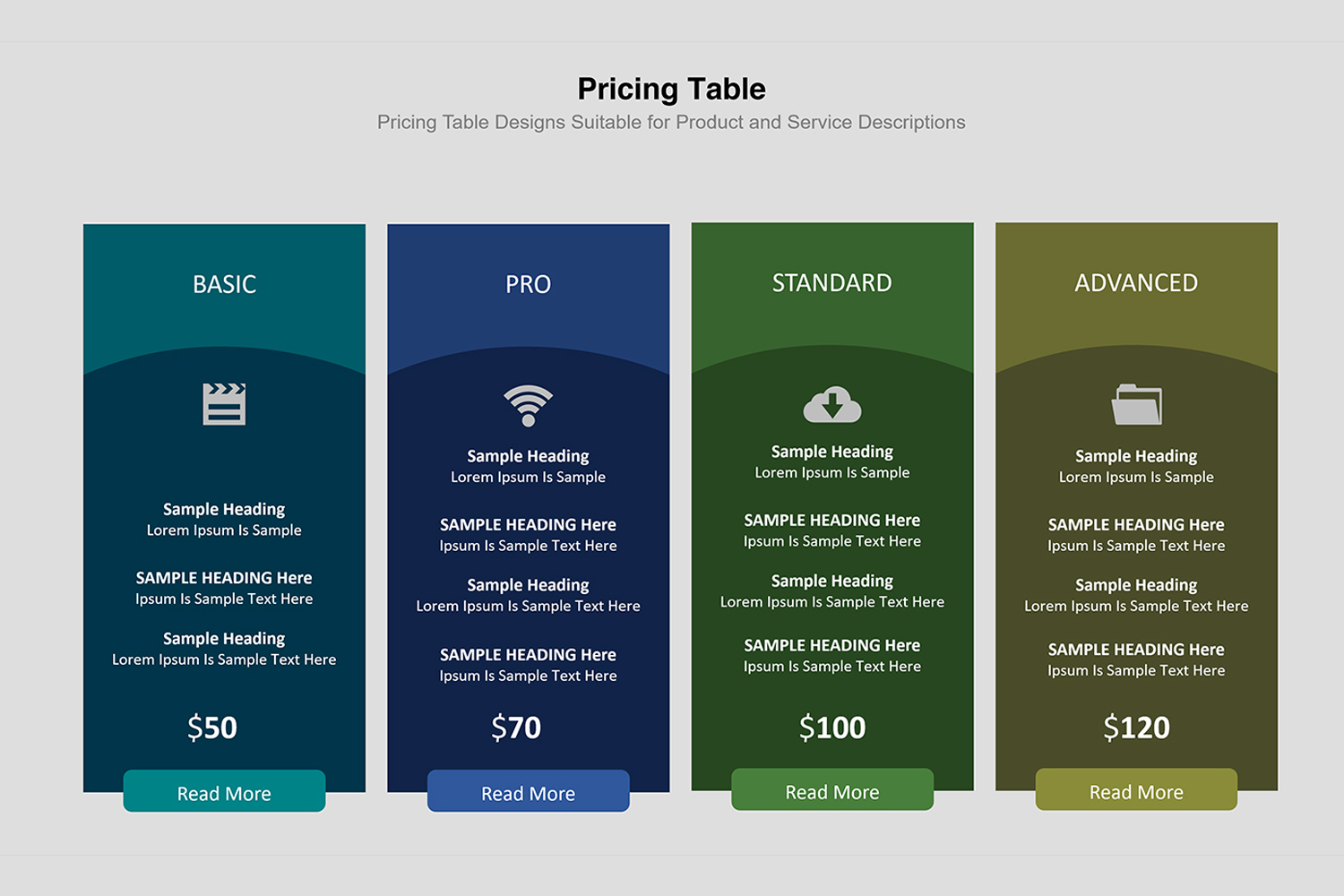Price Table  Infographic Presentation example image 23