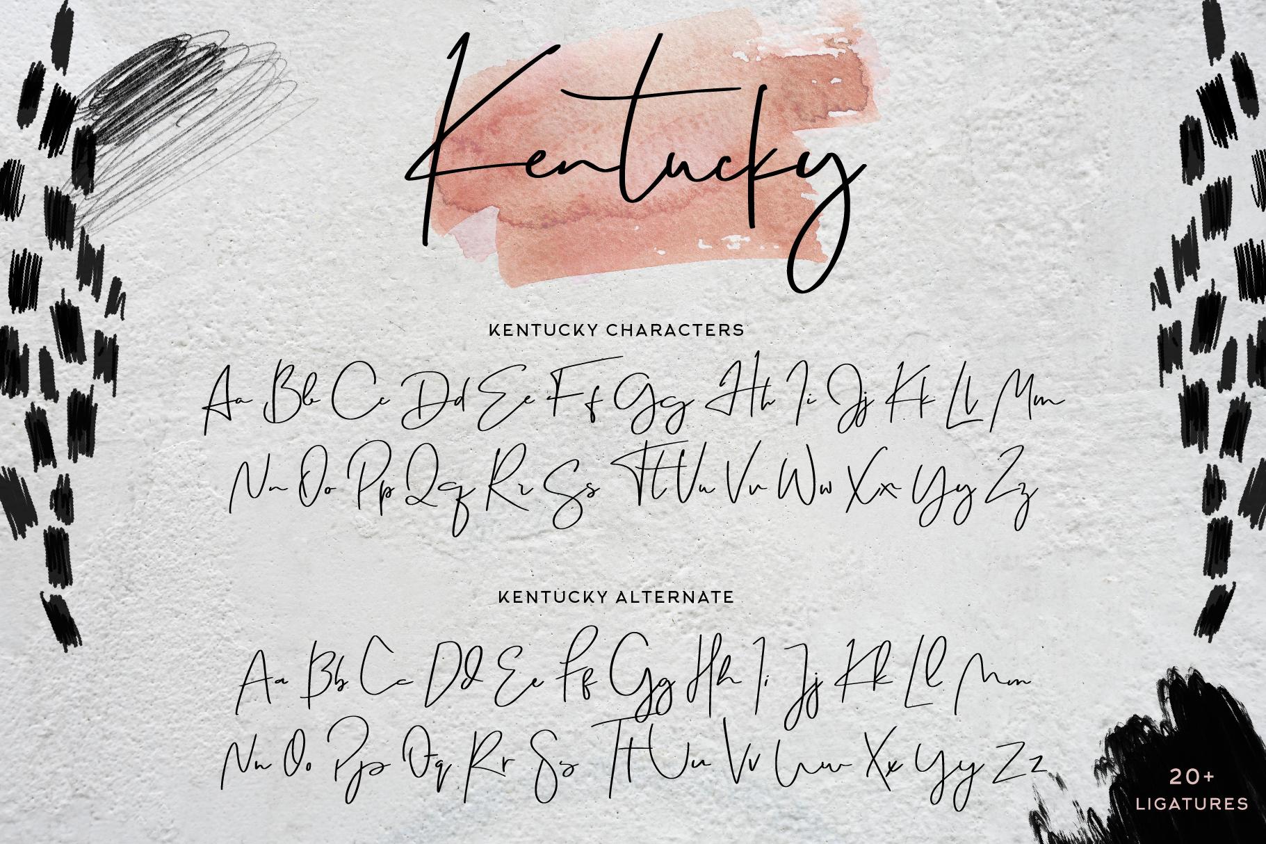 Kentucky Font example image 8