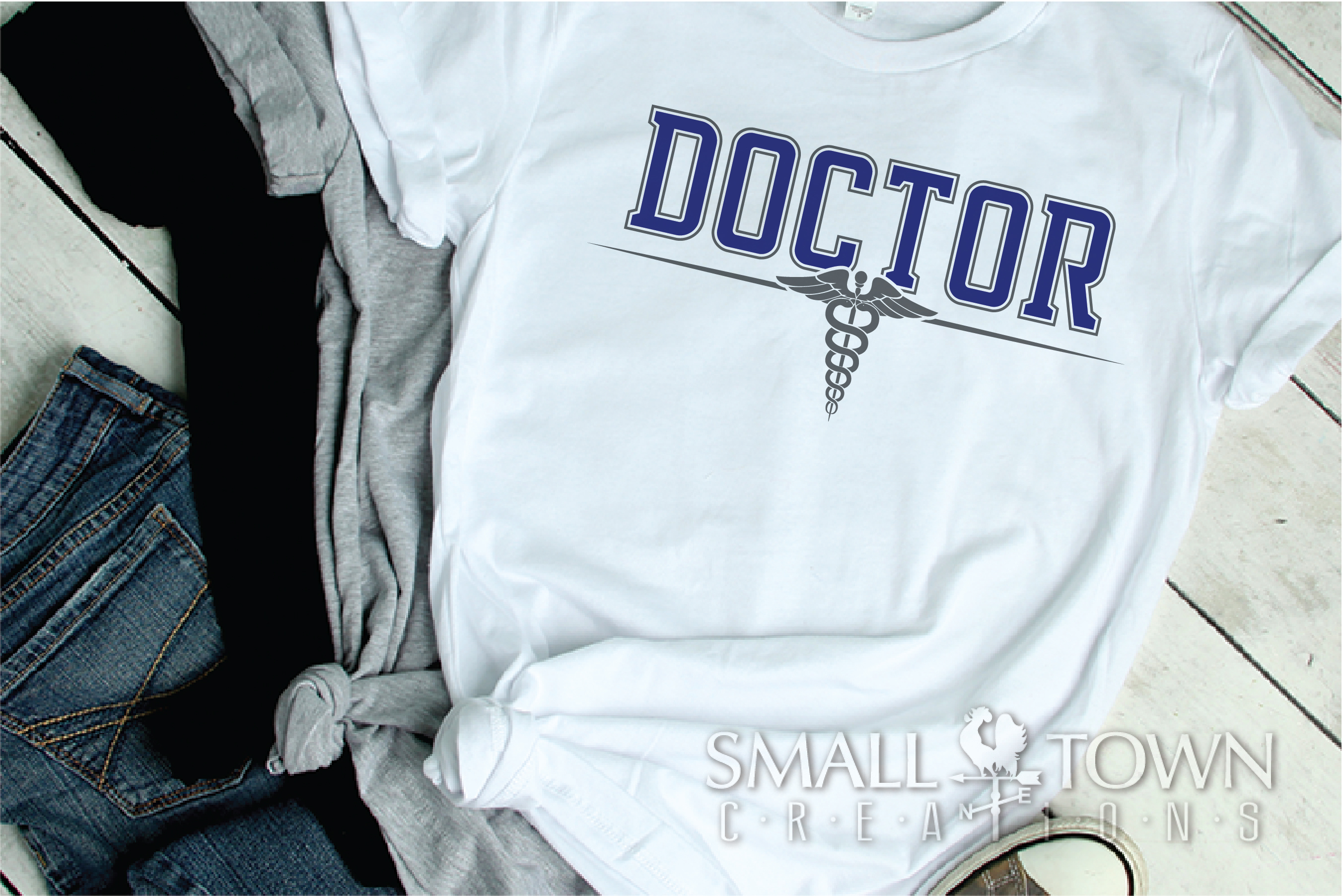 Doctor, Doctor Logo, Caduceus Badge, PRINT, CUT & DESIGN example image 2