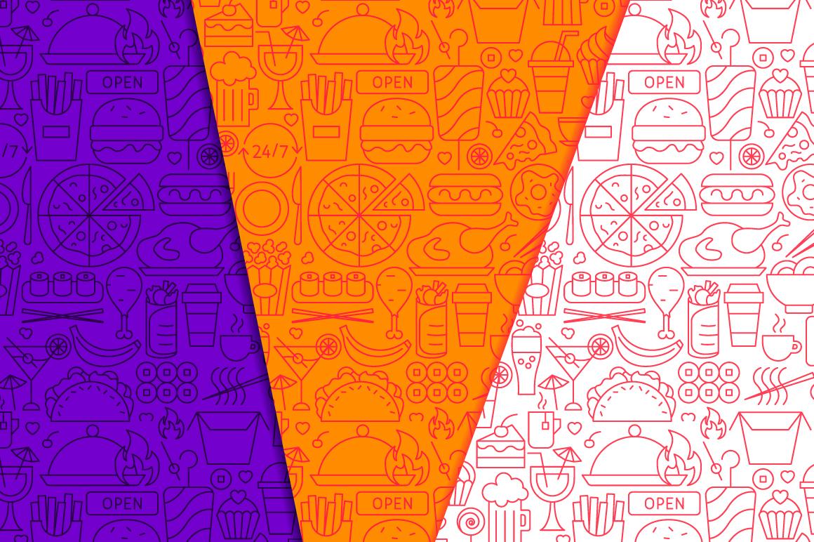 Fast Food Line Tile Patterns example image 4