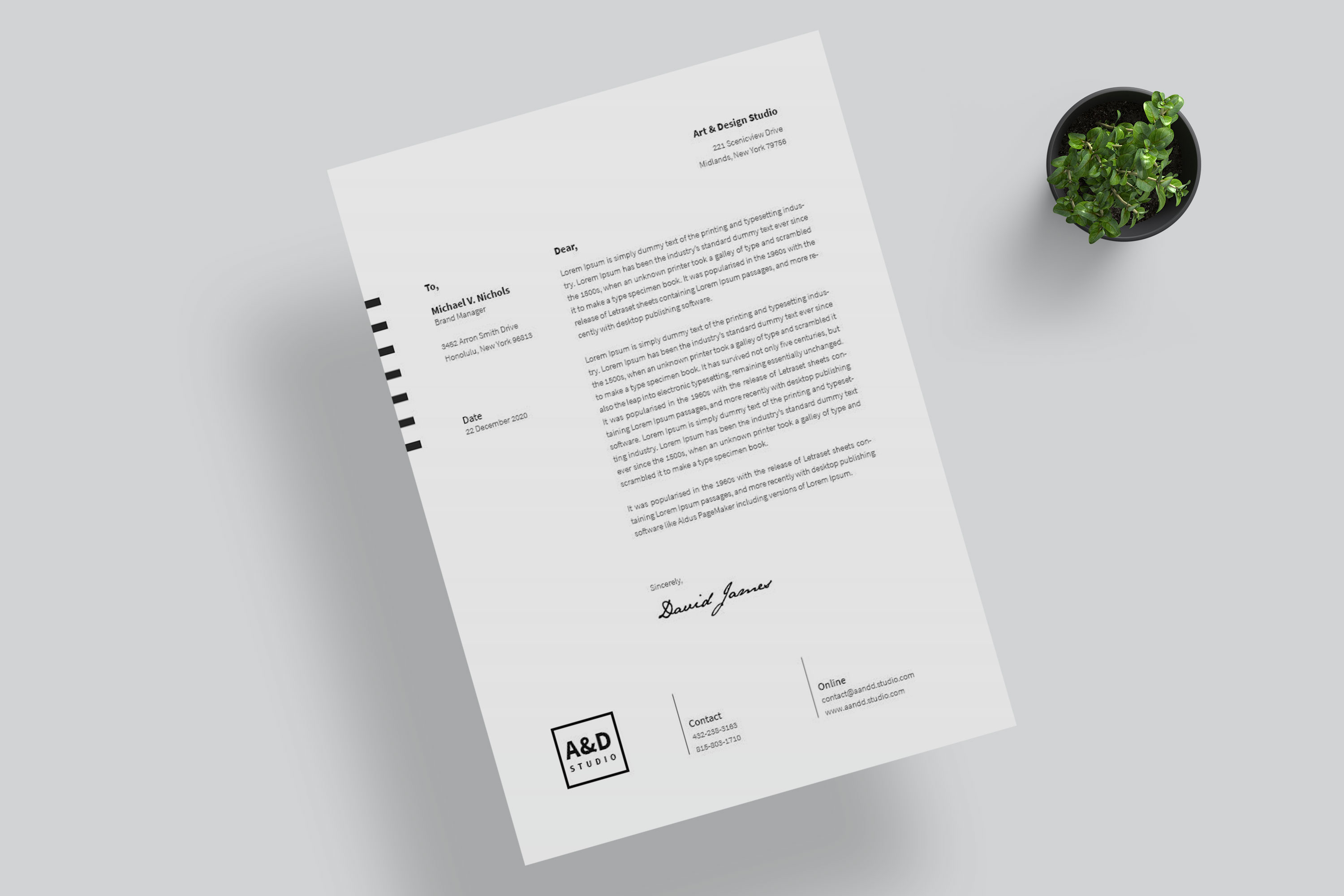 Minimal Corporate Identity Branding Set example image 5