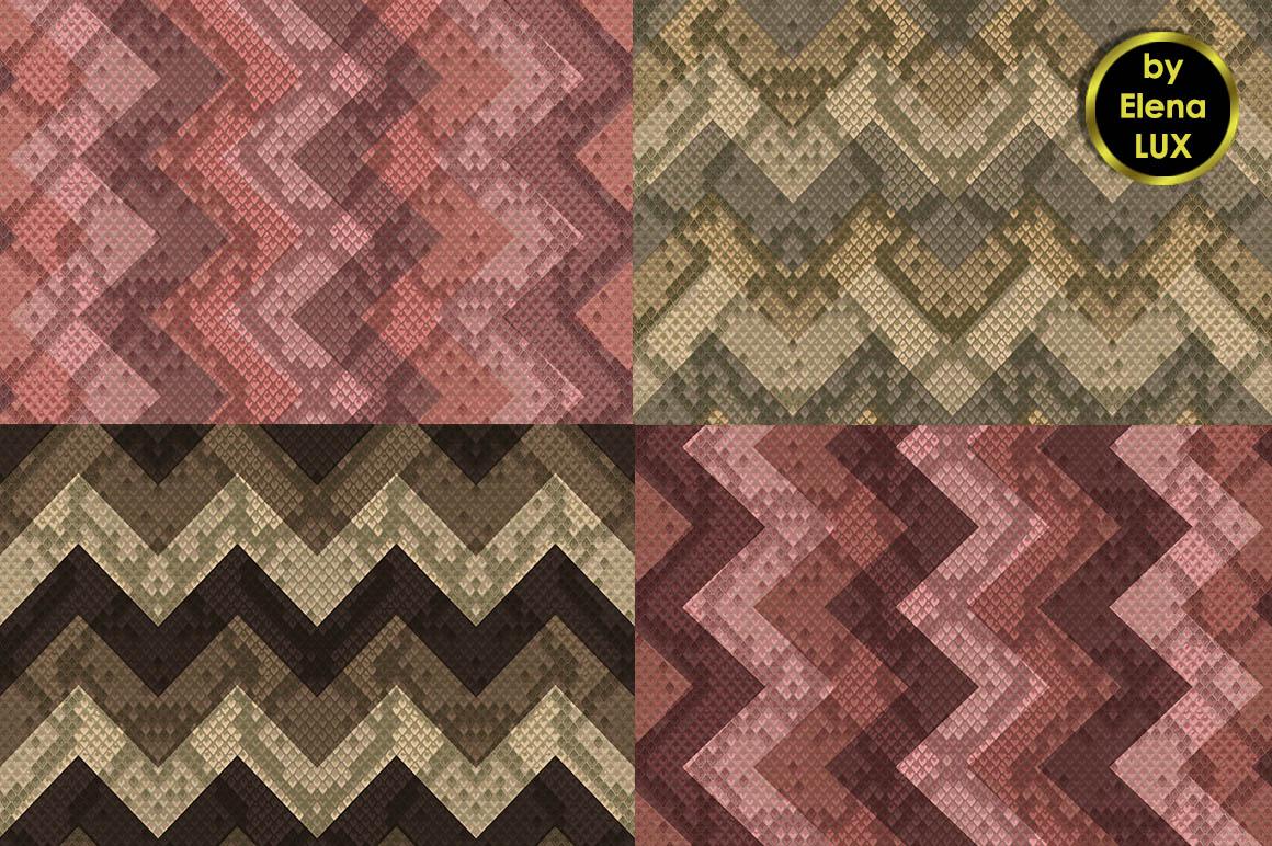 Snakeskin Seamless Patterns Set example image 2