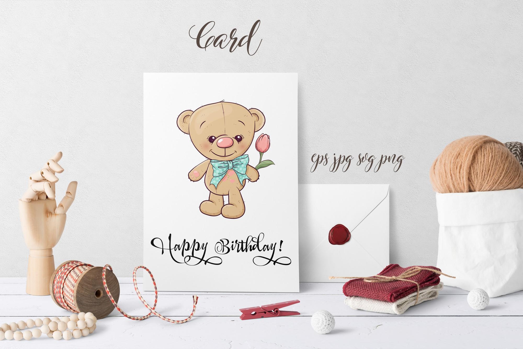 Cute Bear - vector clip art example image 3
