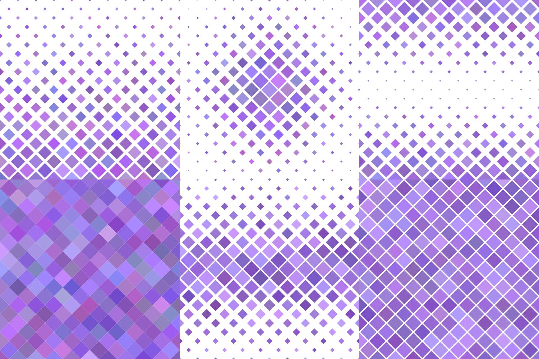 24 Purple Square Patterns AI, EPS, JPG 5000x5000 example image 4