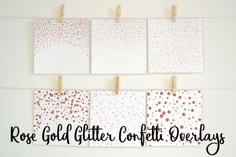 Rose Gold Glitter Confetti Overlays example image 1