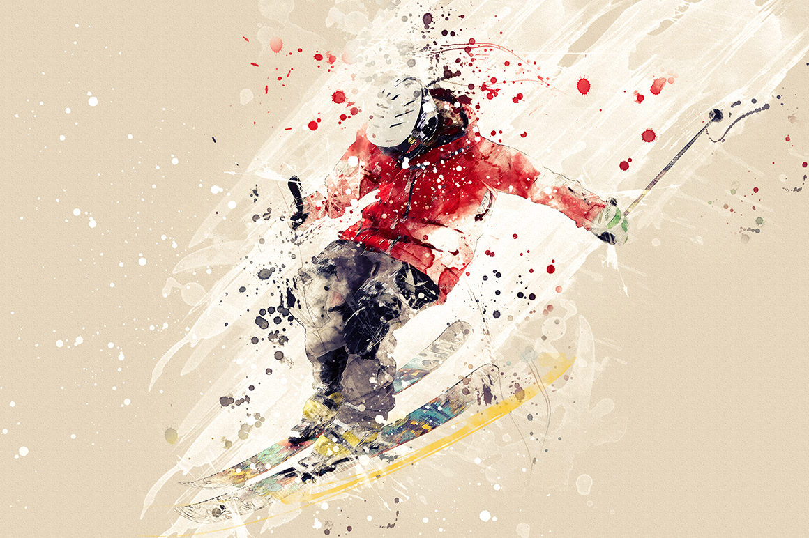 Sports Modern Art Photoshop Action example image 8