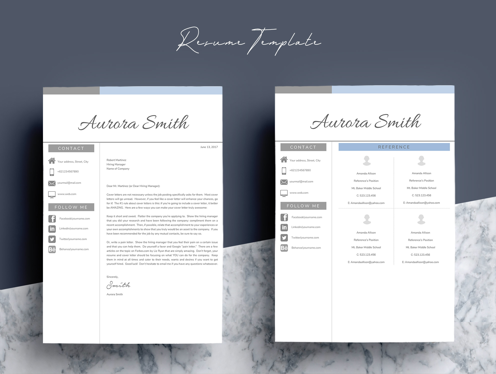 Resume Template Word CV example image 3
