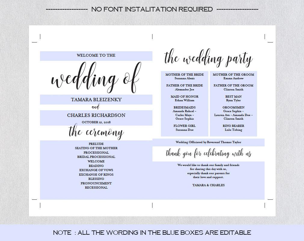 Wedding program fan example image 7