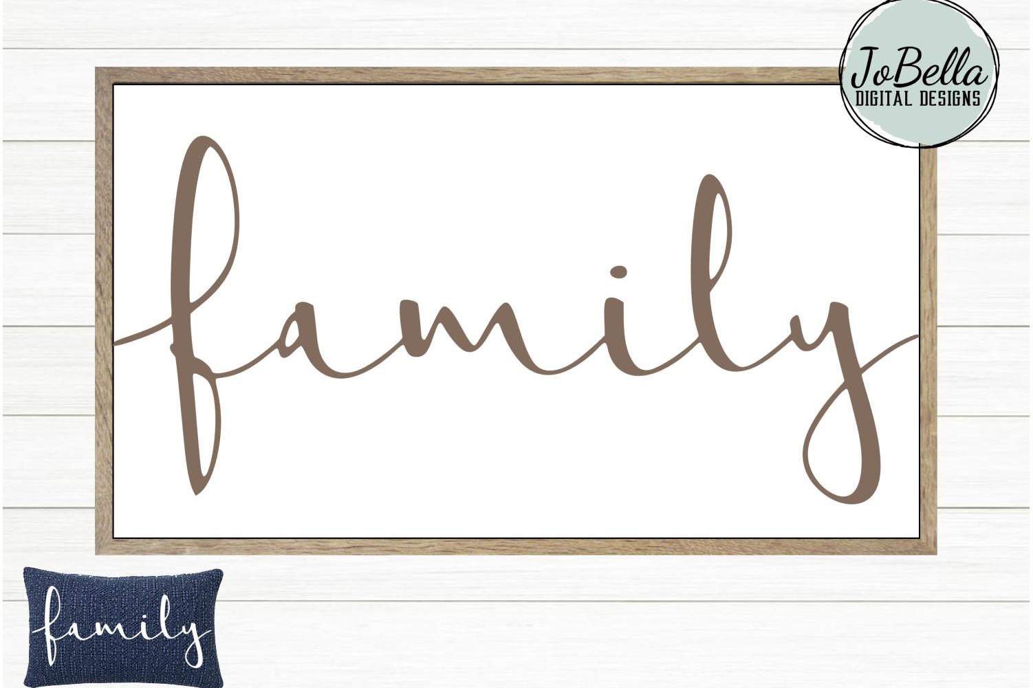 Family SVG, Sublimation Design & Printable Farmhouse Design example image 1