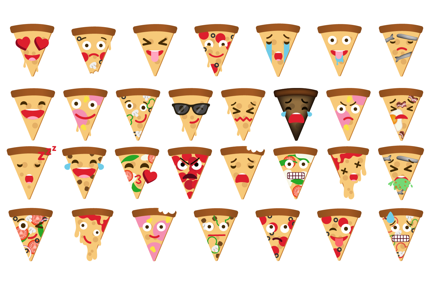 Pizza Expressions Clipart example image 2