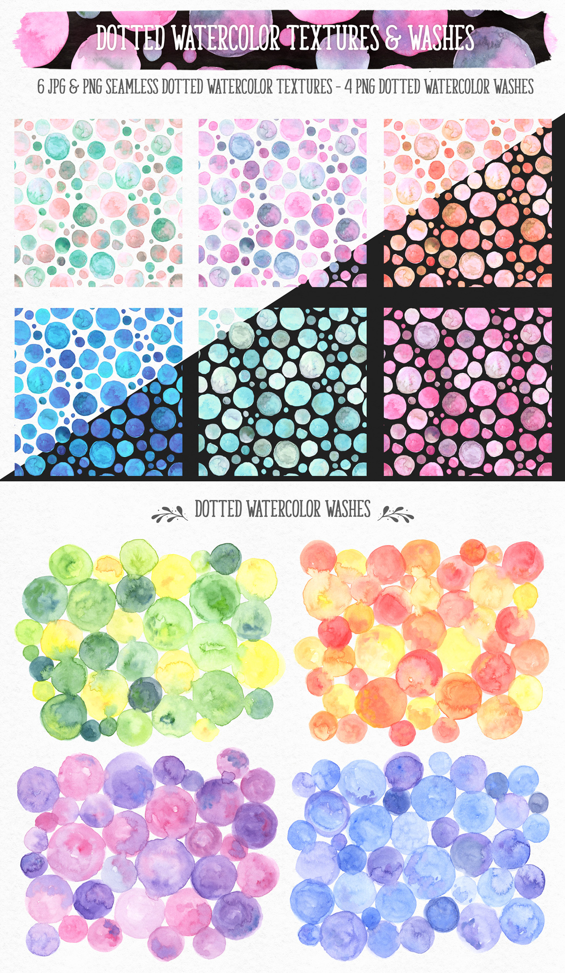 New Watercolor Textures and Graphics Bundle example image 10
