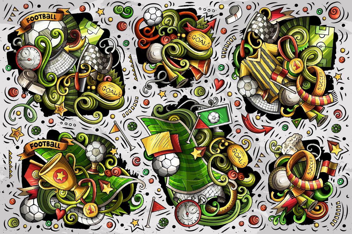 Soccer Cartoon Doodle Big Pack example image 6