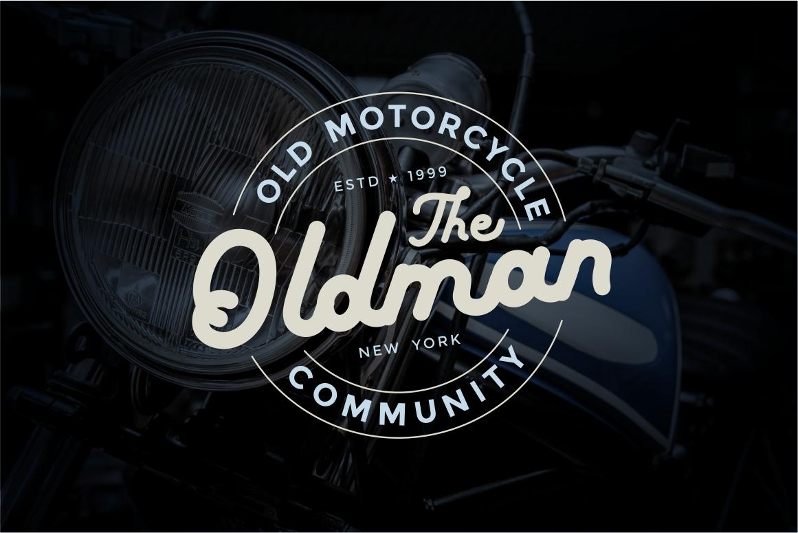 boldline - monoline bold typeface example image 4