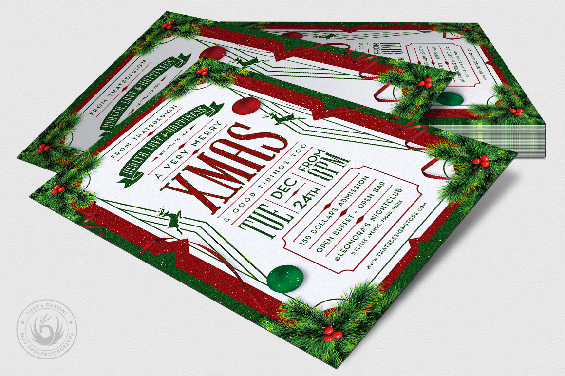 Christmas Eve Flyer Template V8 example image 4