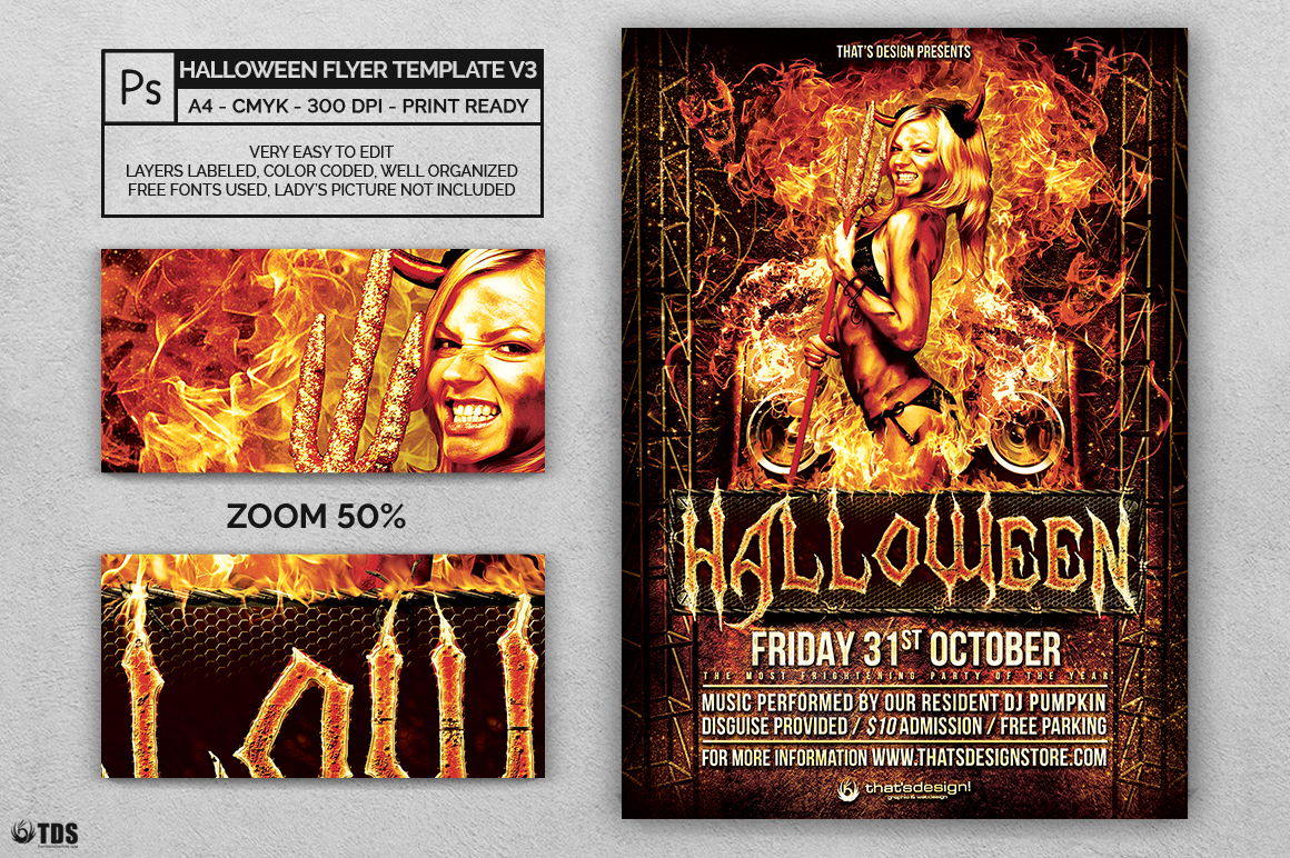 Halloween Flyer Template V3 example image 3
