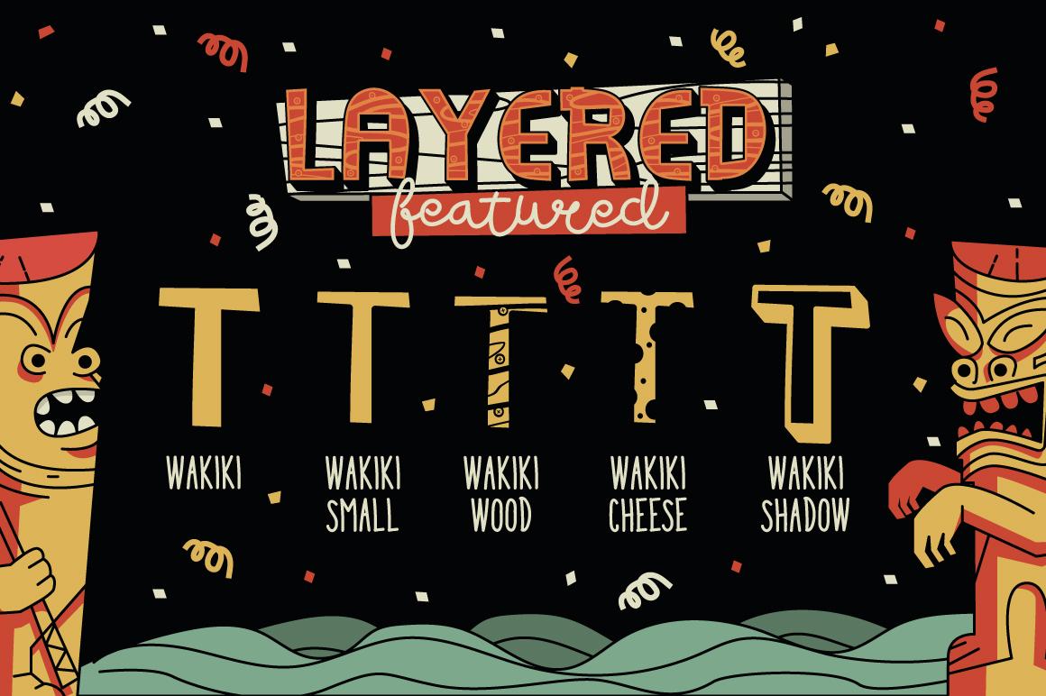 Wakiki Layered Typeface + Bonus example image 5
